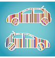 barcode cars stickers vector image vector image