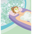 Abstract card - relax in the spa vector image
