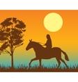 Horseman on vector image