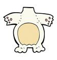 comic cartoon polar bear body mix and match comic vector image