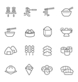 Lines icon set - Eastern food vector image