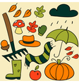 Autumn elements vector image vector image