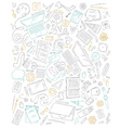 Set of office supplies and gadgets isolated on vector image
