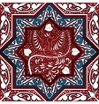 Arabic Seamless Pattern with bird Phoenix vector image