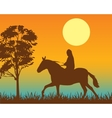 Horseman on vector image