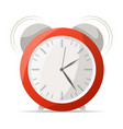 red alarm clock with bells icon vector image