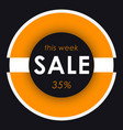 sale banner template design orange round vector image