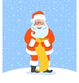 Santa Claus reads Naughty or Nice Kids List vector image