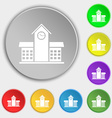 School Professional Icon sign Symbol on eight flat vector image