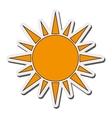 sun pictogram icon vector image