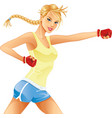Woman Boxing vector image