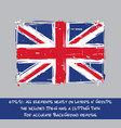 british flag flat - artistic brush strokes and vector image