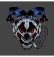 cartoon scary clown vector image vector image