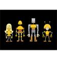 cartoon robots vector image