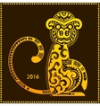 tribal monkey New year calendar vector image vector image