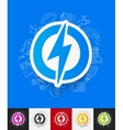 lightning bolt paper sticker with hand drawn vector image