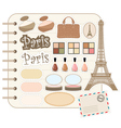 scrapbook elements and cosmetic vector image vector image
