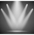 transparent spotlights vector image vector image