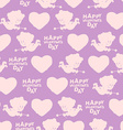 Valentines day seamless pattern Silhouette of vector image