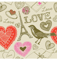 Love France Background Pattern vector image