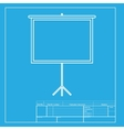 Blank Projection screen White section of icon on vector image