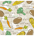 Background with broccoli corn and potato vector image