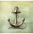 Anchor old-style vector image