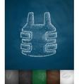 bulletproof vest icon vector image