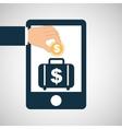 concept saving portfolio money vector image