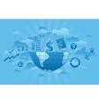 Global Markets blue vector image