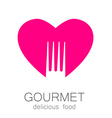 lovely food logo template vector image