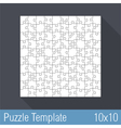 Puzzle Template 10x10 vector image