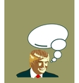 Republican Presidential Candidate Donald Trump vector image