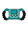 steering wheel racer draw vector image