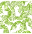 Tropical jungle palm leaves pattern vector image