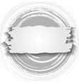 Vintage circle and banner Grunge design vector image