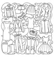 woman clothes pattern vector image