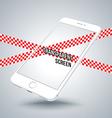 smartphone mockups like iphon vector image