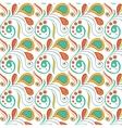 Vintage swirl seamless pattern vector image