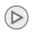 grayscale video media symbol to play film vector image
