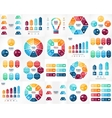 infographics set Templates for cycle vector image