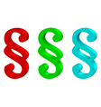 multicolored paragraphs vector image vector image