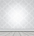 blank interior with wallpaper and wood floor 1503 vector image