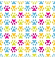 Animal seamless pattern of paw footprint Endless vector image