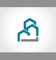 building construction shape logo vector image