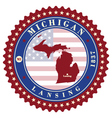 Label sticker cards of State Michigan USA vector image