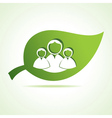 People icon at leaf vector image