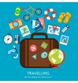 Travel flat concept vector image
