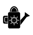 watering can icon black sign vector image