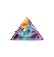 Abstract colorful triangle geometrical eye vector image